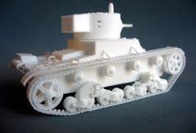 3D Printed vehicles in 1:48 scale for 28mm wargames / I think that 1:48 scale is more suitable for 28mm wargames than commom 1:56 scale used by commercial firms, so I've decided to model & 3d print my own vehicles.  I'm a fan of inter-war period so most of my vehicles will be based on prototypes suitable for conflicts as Spanish Civil War, but I'll model some WWII vehicles too.