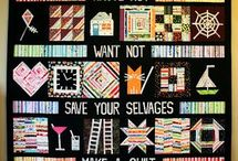 Selvage quilting ideas