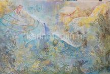 Intuïtive painting ~ Karin Merlijn / intuïtief schilderen  www.karinmerlijn.nl