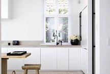 White minimal kitchens