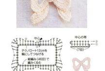crochet acessórios - cinto - colar- apliques