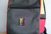 mochila  lona qb / con aplicación de bob marley