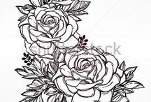 Lines in flowers