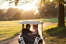 Wedding golf court