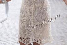vestidos de crochê