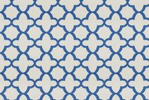 Blue and White Fabric and Design / Blue and White Fabric and Design