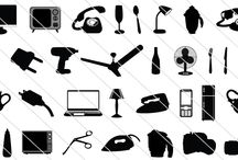 Appliance Vector Icons / Many more appliance vector icons this time as a package of 33 vector elements. Both home appliances and other Electronic appliances are included. Some of them are refrigerator, vintage phones, laptop, ovens, coffee maker etc.
