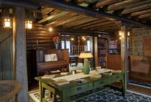 The Log House Interior / by The Stickley Museum at Craftsman Farms