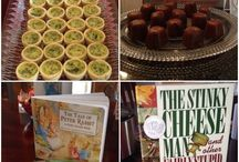 Bookish baby showers and kid parties