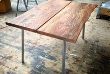 Plankebord / Har de sidste mange uger arbejdet med nogle elmetræsplanker, da jeg ønskede at lave mit eget plankebord.