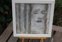 Art / Paintings by Daniela Rogall / Meine Arbeiten auf Ampersand Board, Holz, Keilrahmen, FineArt Malkarton, Aquarell-/Pastell-/Mixed-Media-Papier und anderen Materialien