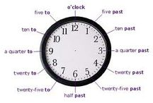 time / the time: pics, word lists, resources