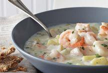 soupe ( chaudrée au fruit mer )