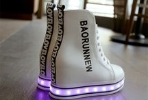 Colorful glowing shoes