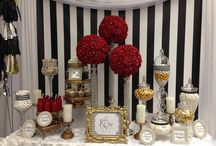 Candy Buffet Table Ideas / Candy Buffet Table Ideas for your next wedding, baby shower, Birthday, Graduation, bridal shower or special event. Chandelier Cake Stands, dessert trays, cupcake stands by Opulent Treasures are perfect for showcasing your Candy bar or buffet table.