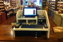 Rustic Wood Cash Wrap Retail Sales Counters / by LiSA JOHNSTON