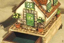 шкатулки-домики