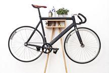 Wood Bike Rack | Shelf