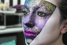 glitter faces