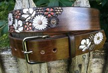 Leather women's belts and buckles
