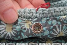 Crochet how to sew a lining to bag