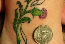 Scottish thistle tattoo