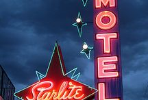 Motels,Hotels and Inns / vintage, creepy, neon signs ..furniture, stories and history of highway motel...Hotels new and old ...and Inns ...urban and rural .