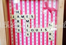 WLFA Scrabble Tile Name Frames / Pretty Handmade Keepsakes for all occasions www.facebook.com/withlovefromabigailx