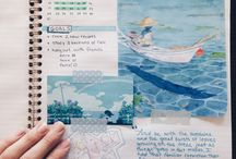 Art journal calendar pages