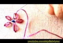 sewing embroidery flowers