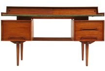 "DESKS / Elegant and unusual desks; mostly beautiful vintage mid century, art deco or antique furniture plus some modern ones. For more detailed and general  office decoration also check my board ""Working areas at home"""