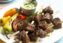 Kebabs with Advocado Sauce