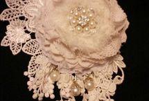virágok textilből