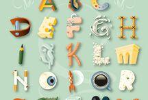 Bokstäver / Grafiska bokstäver