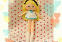 FELT DOLL / pretty felt doll