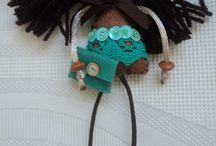 brooches dolls created by my / by El rinconcito de Zivi Zivi