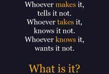 találós kérdések stb.
