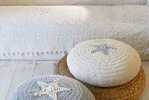Crochet footstool