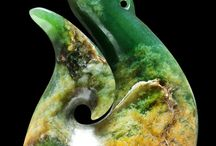 Jade carving Matau/ Pikorua/ Koru