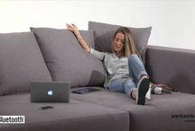 """Divani moderni: Four Square sofa. Video / Four Square è un divano moderno ideale per i vostri momenti di relax. Con seduta """"comoda"""" è definito dai più giovani un """"divano comodo"""""""