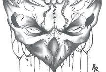 Rajzaim/Draws / Saját rajzaim, tetováló gyakornok vagyok ha kell valakinek minta megrendelés vagy tetkó az irjon :D