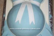 Belly baby shower cakes.