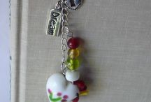 Personalized Bookmarks & Keychains / Unique keychains and bookmarks for your special occasion.  Add your initial or birthstone to any of our handmade gifts at www.etsy.com/shop/marketsofsunshine