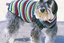 Crochet dog jackets