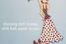 Paper dolls / Julie Nutting Paper Doll Stamps