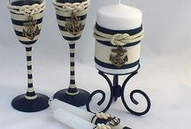 Свечи бокалы