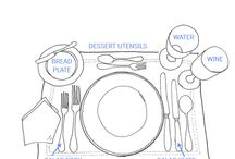 Dining and Table Decor / different place settings