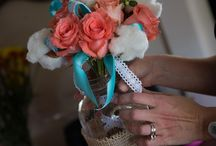 Teal & Coral Wedding