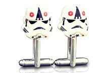 Gemelos para camisas de Star Wars / Gemelos para tus camisas, todos los personajes de Star Wars en plata, cobre y metal.
