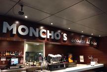 Proyecto de iluminación led en el restaurante Moncho's del Aeropuerto de Barcelona / Sustitución de lámparas anteriores por iluminación led alcanzando un ahorro energético del 70%. http://www.luzledproyectos.com/iluminacion-led-en-el-restaurante-monchos-del-aeropuerto-de-barcelona/